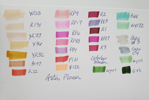Alcohol Markers Tutorial with Red Flower Step 1 by verycreate.com