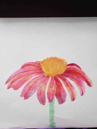 Alcohol Markers Tutorial with Red Flower Step 7 by verycreate.com