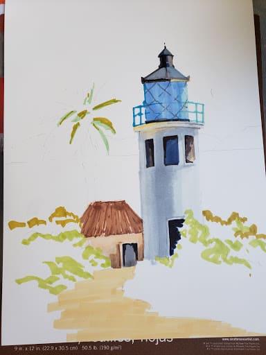VeryCreate.com lighthouse outline + more color 2