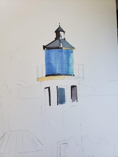 VeryCreate.com lighthouse outline + some color