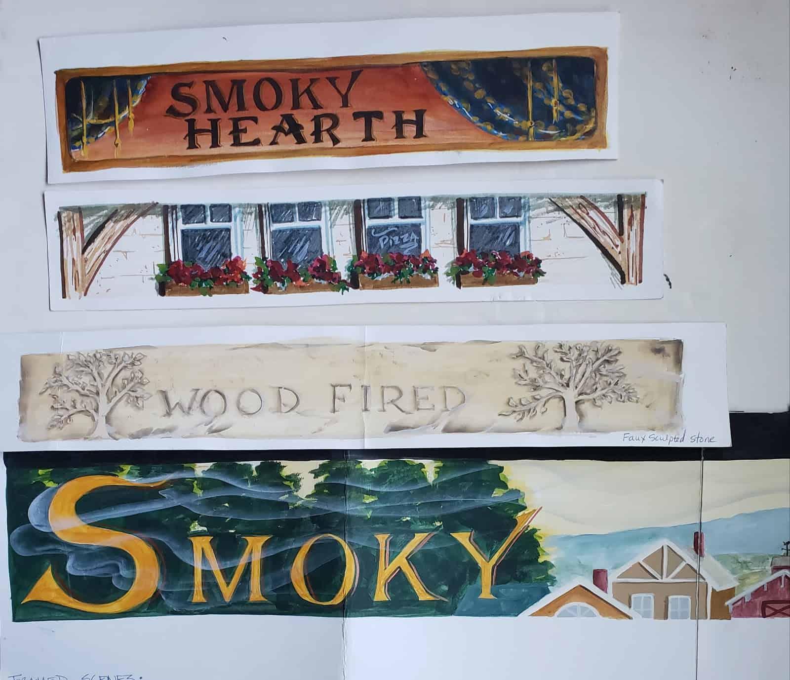 Hot Press or Cold Press Watercolor - Image 4 arches 140lb mural color sketches