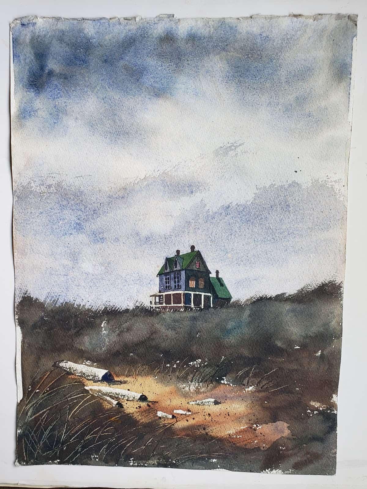 Hot Press or Cold Press Watercolor - Image 6 wet in wet, dry brush, scrape away