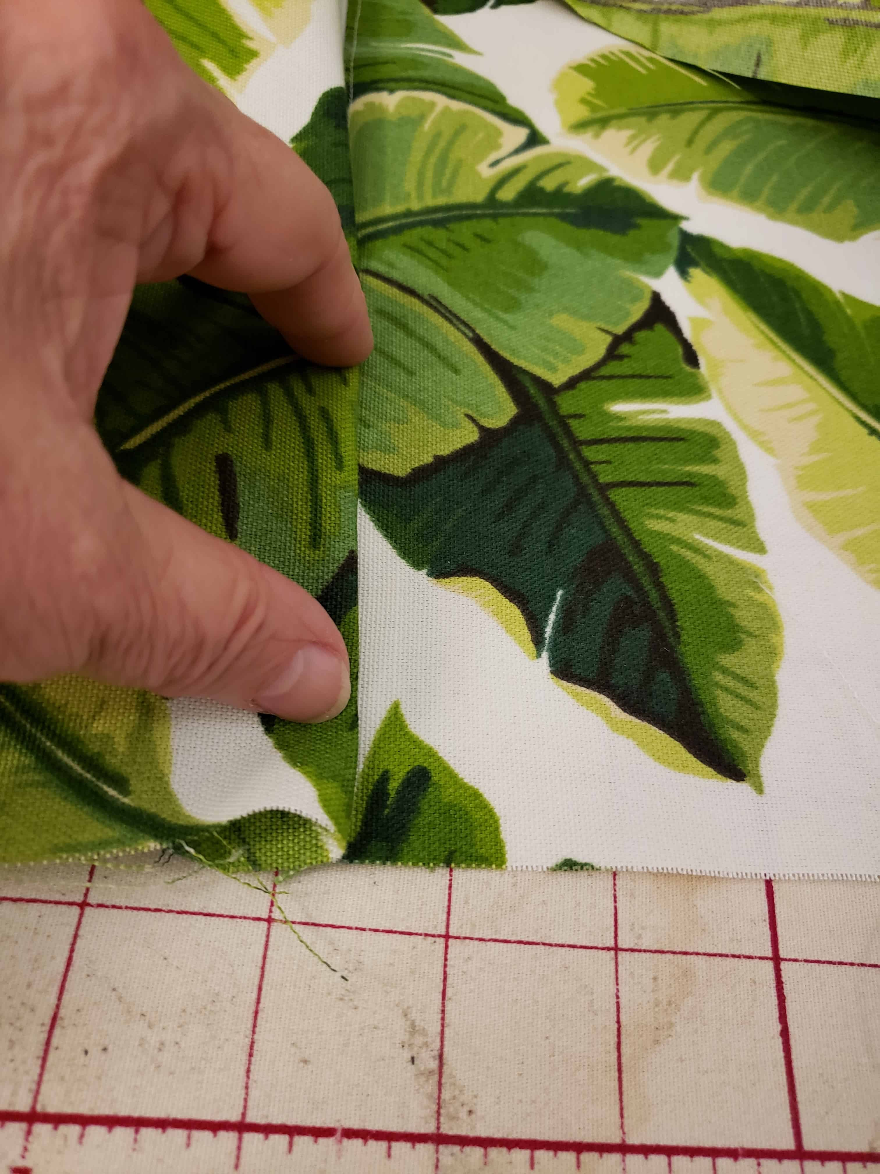 step three in creating the fold