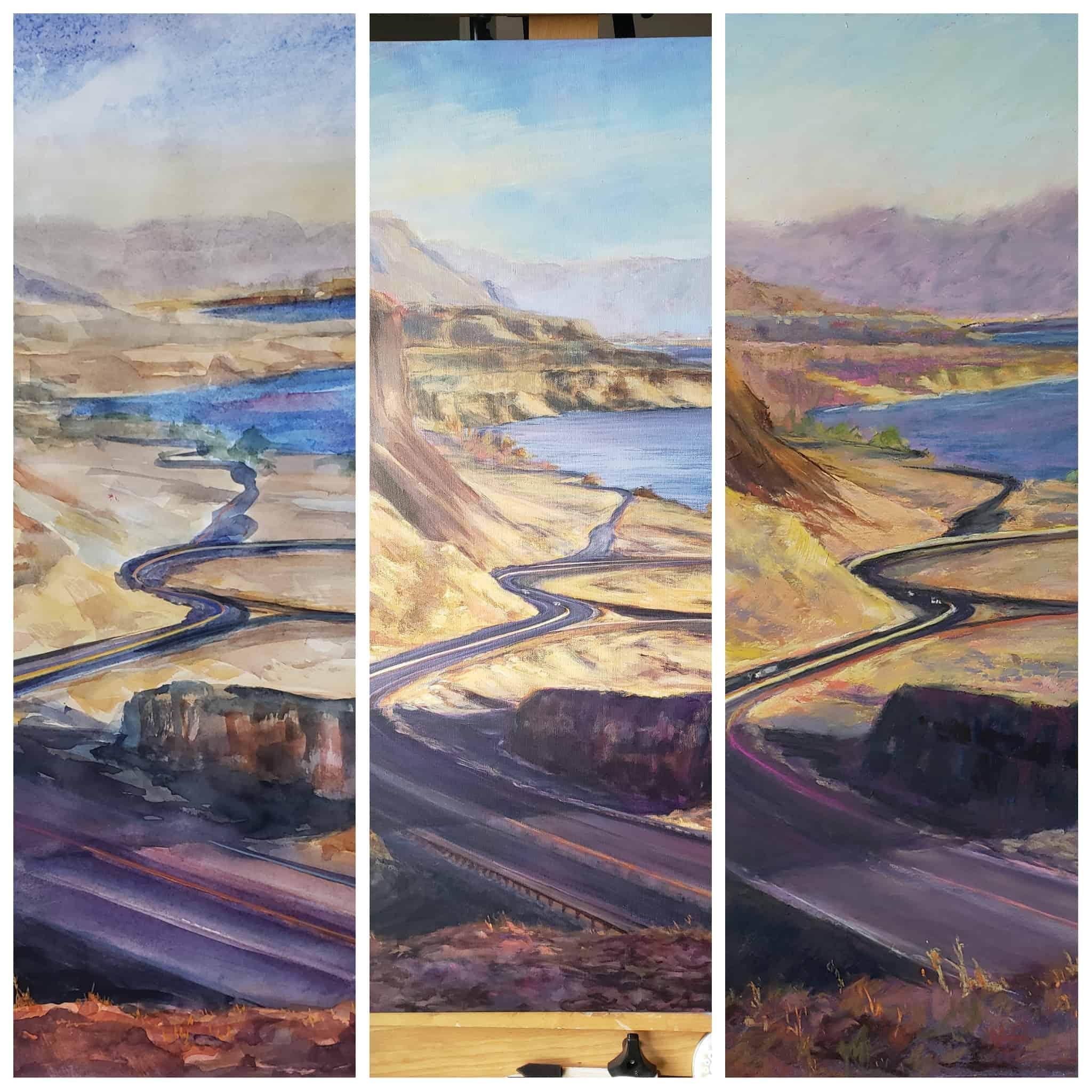 Vantage WA One Subject Painted Three Different Mediums