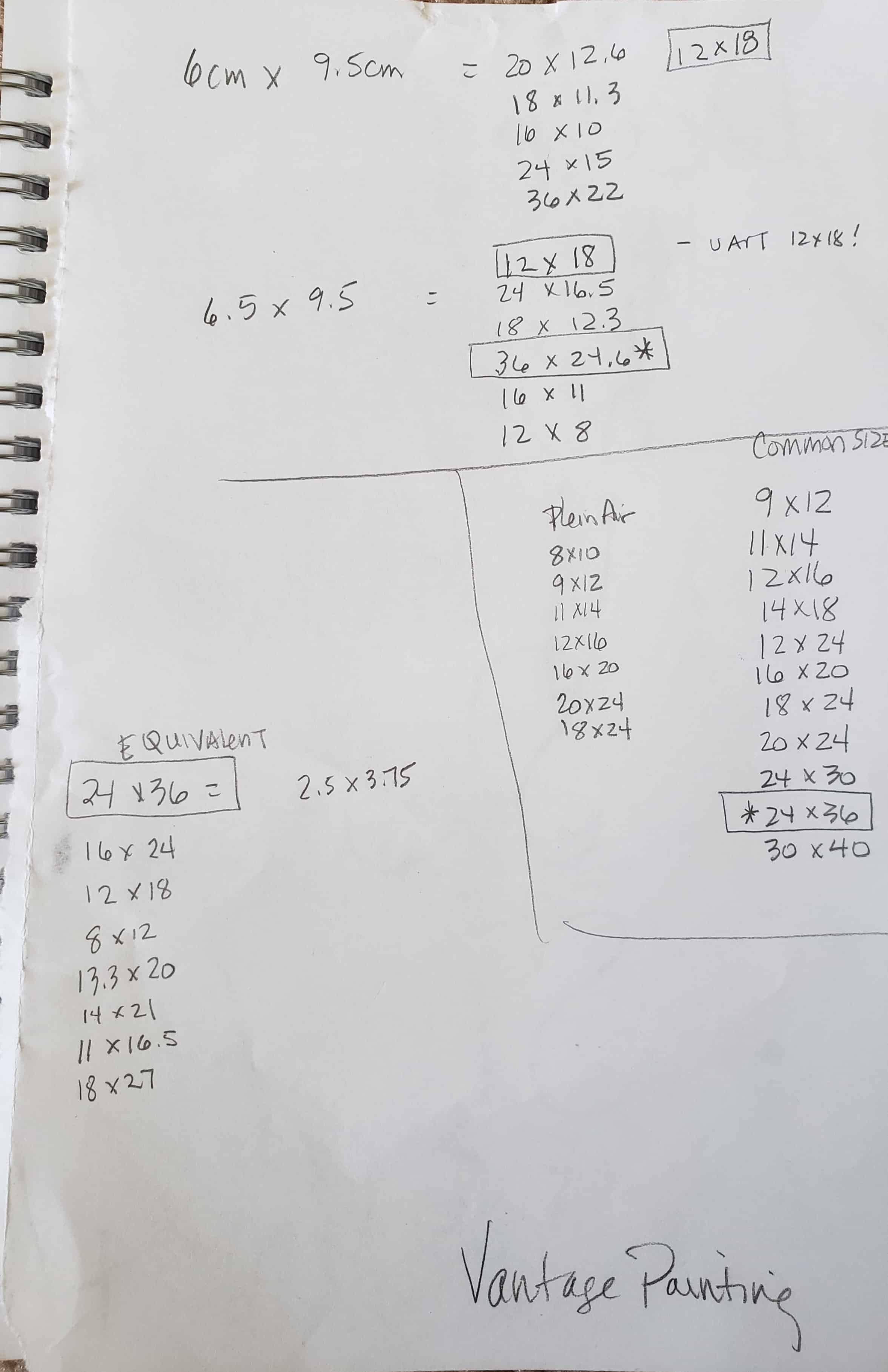 framing precalculations