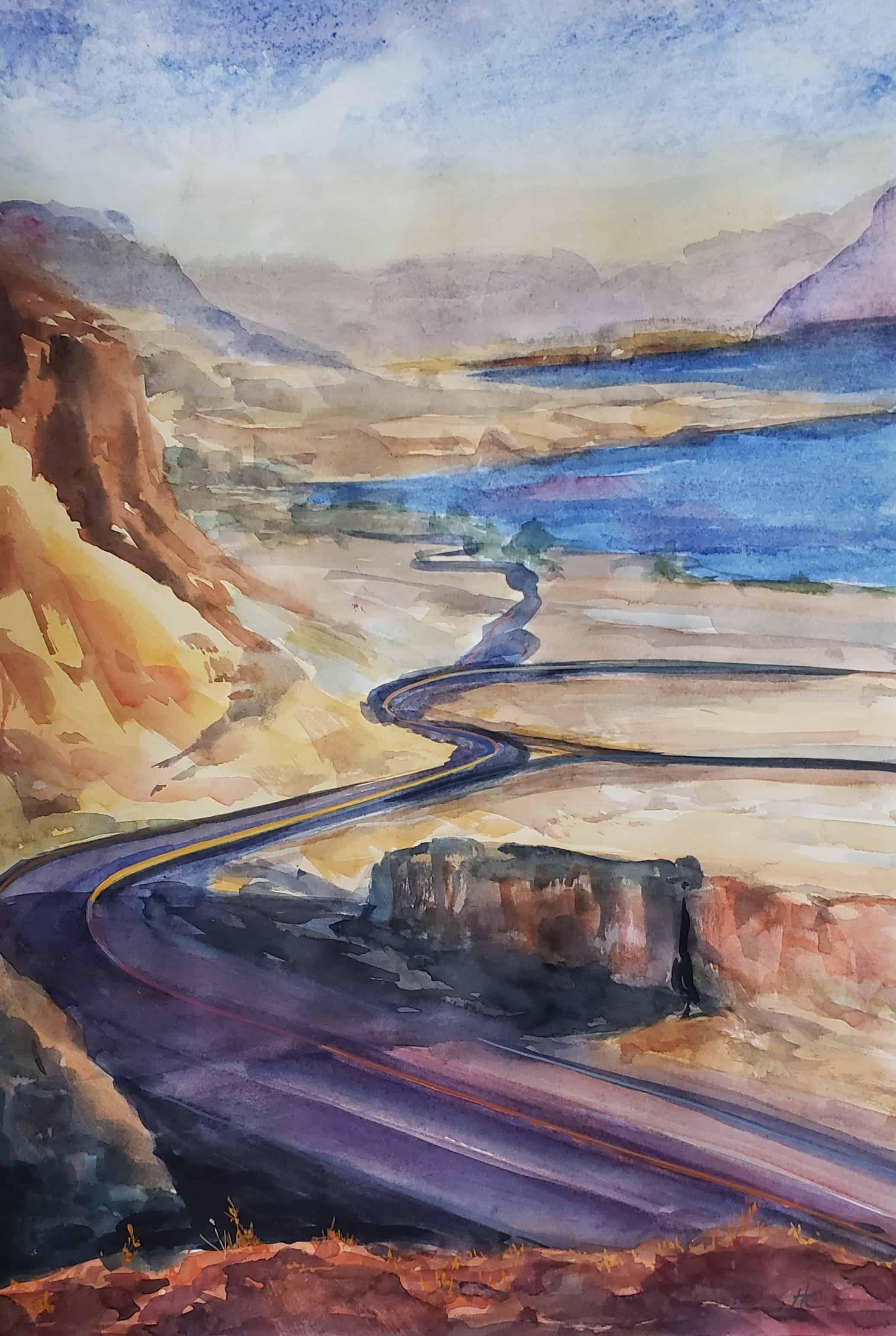 watercolor version Vantage Wa