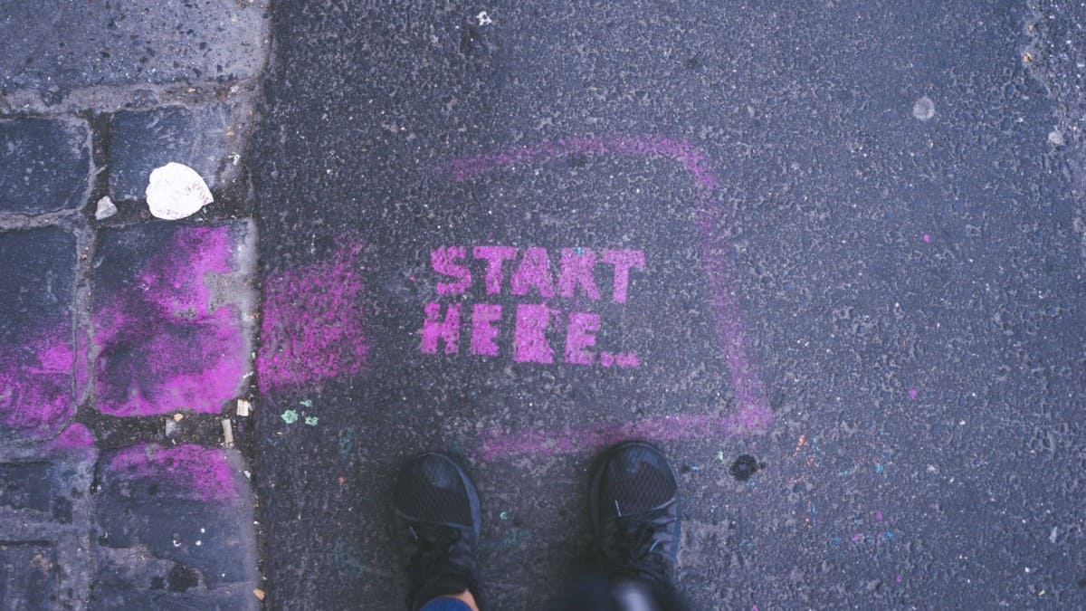 start here picture with feet