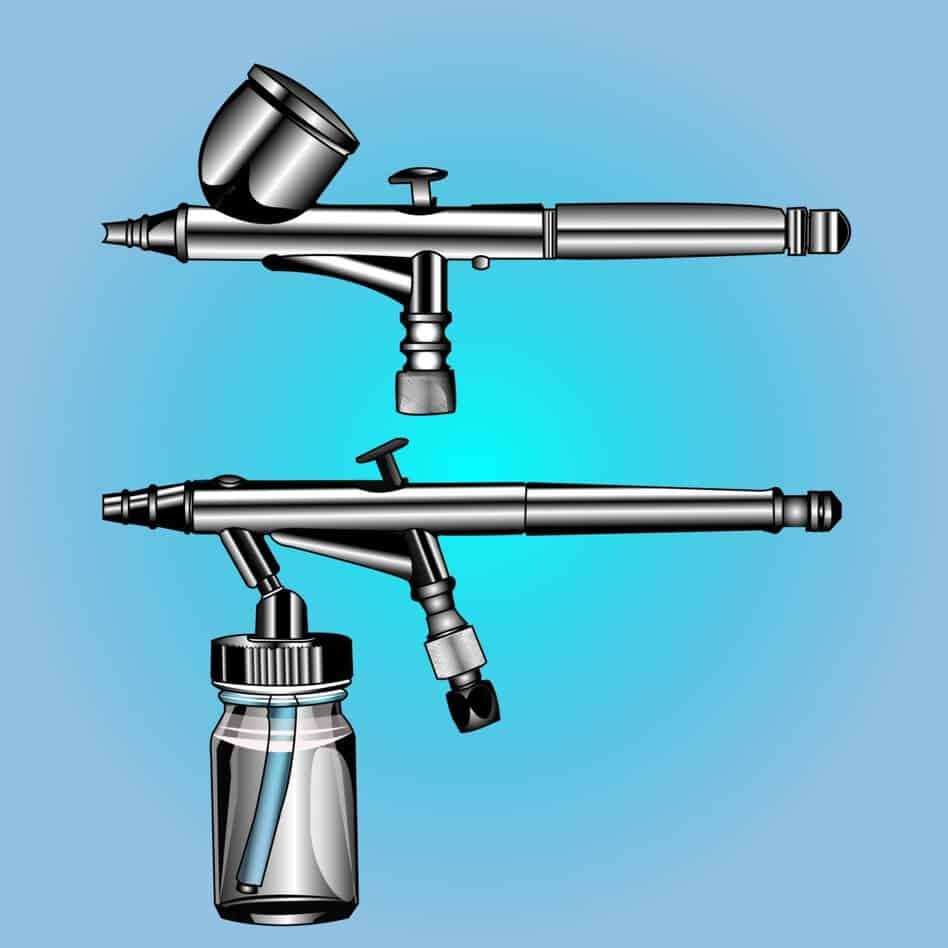 siphon and gravity fed airbrushes shutterstock paid