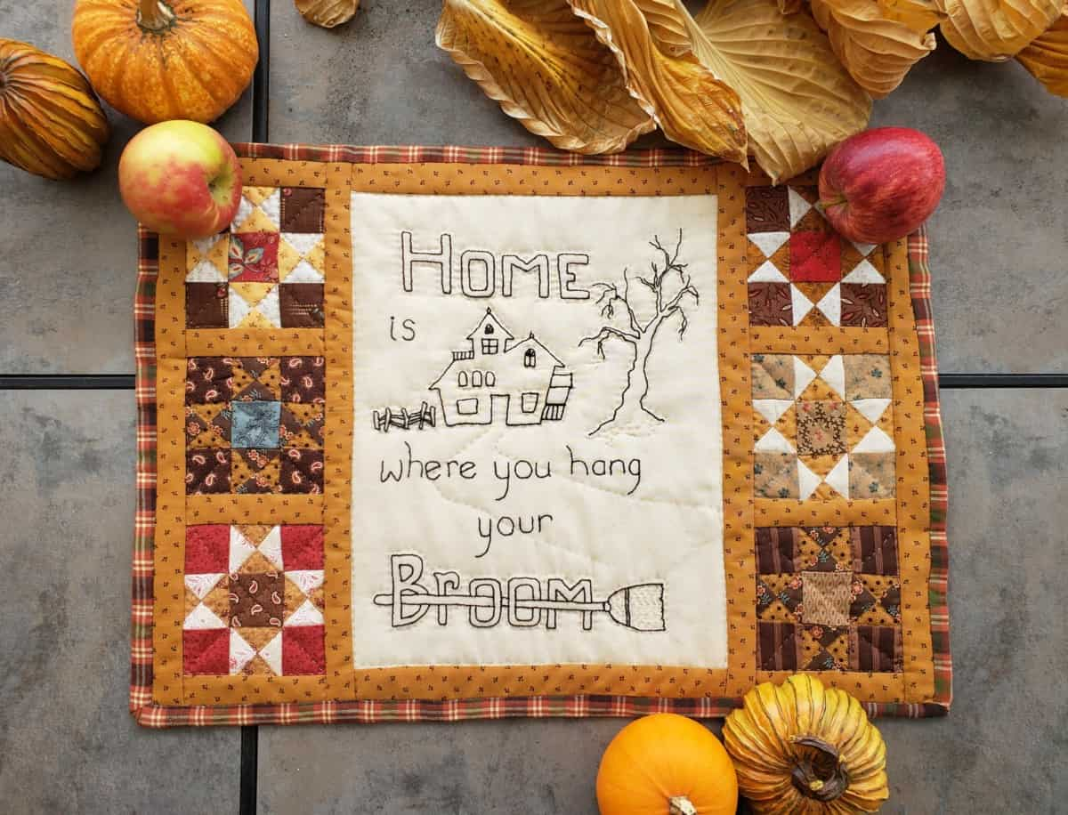 Home is where final styling Halloween Wall hanging verycreate.com