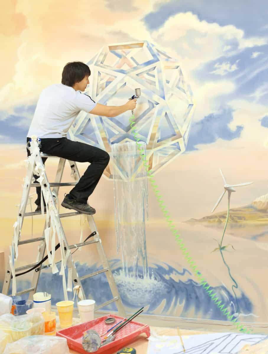 airbrush mural