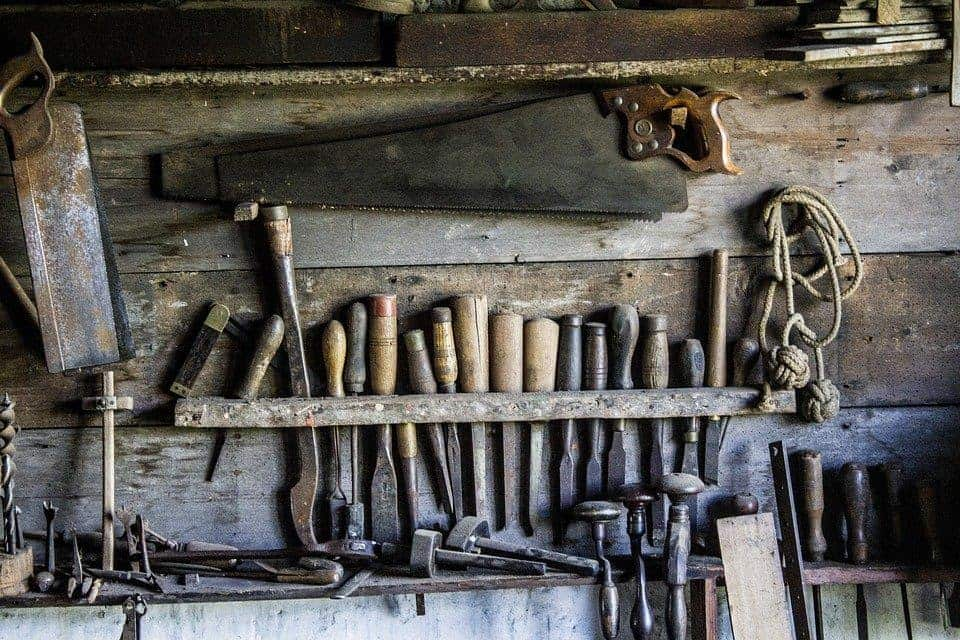 Tools used by a woodworker