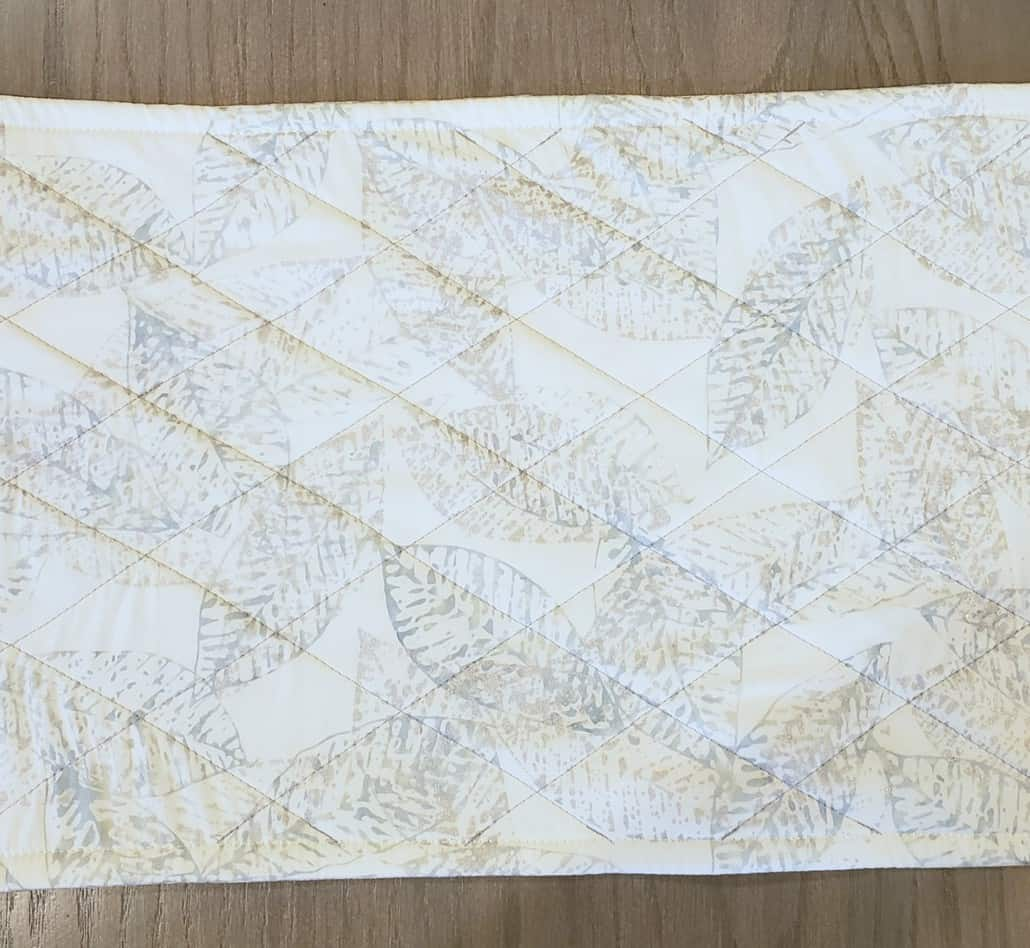 simple quilted treatment