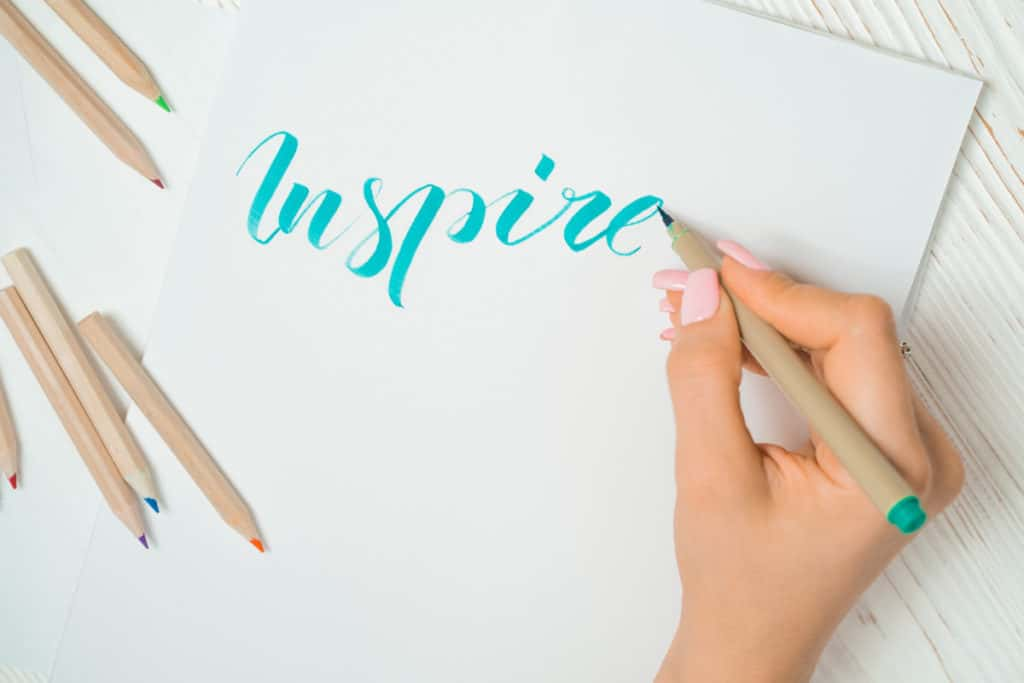 inspire word calligraphy Best Alternatives To Copic Markers verycreate.com