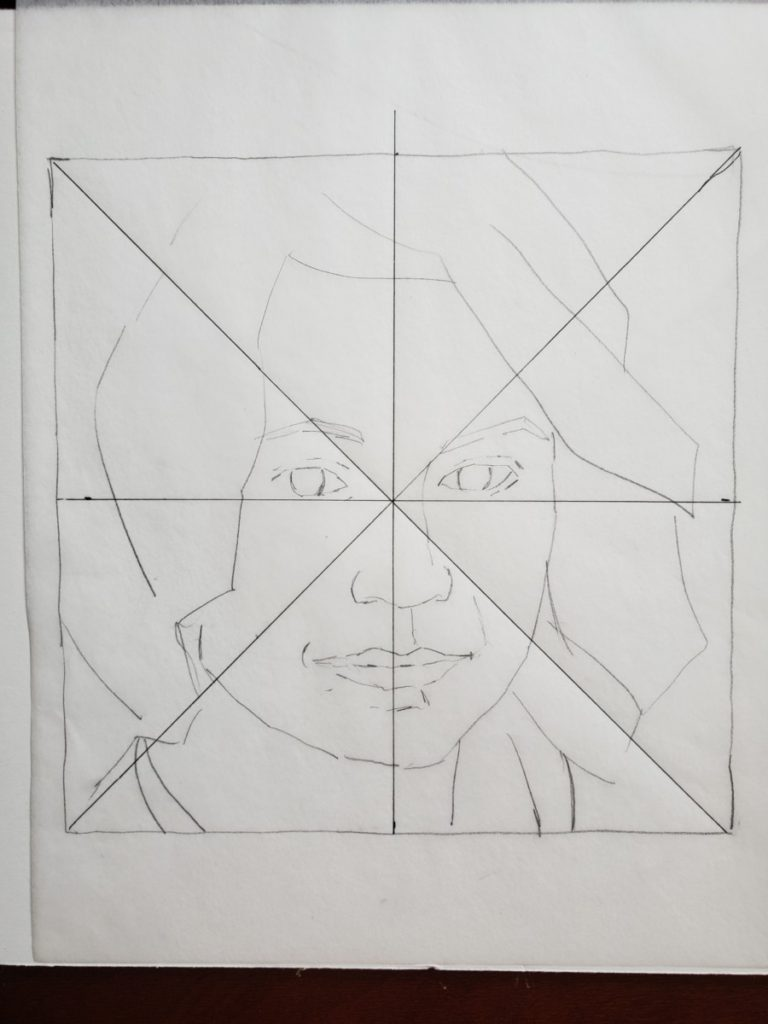 grid 1painting a portrait in acrylic verycreate.com