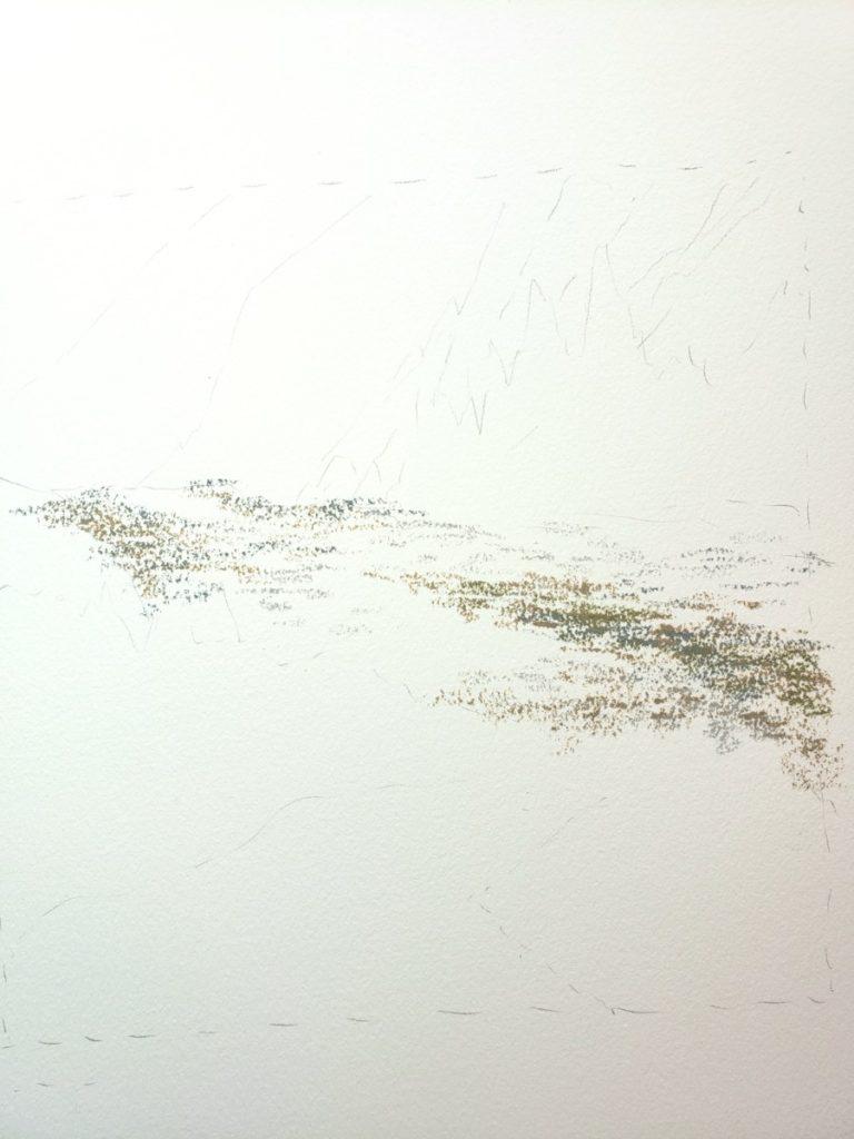sketch landscape in oil pastel verycreate.com