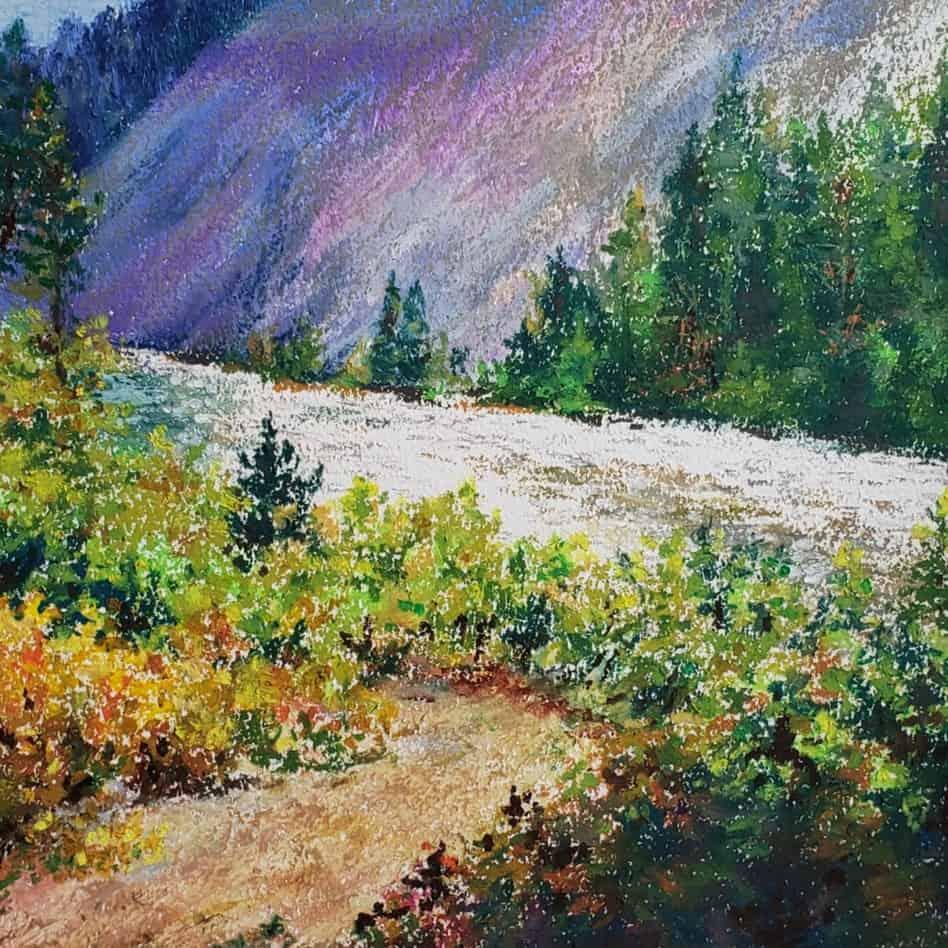 final landscape in oil pastel verycreate.com