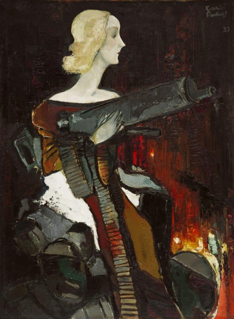 madonna with machine gun Which Is Better? Oil Paints or Oil Pastels?