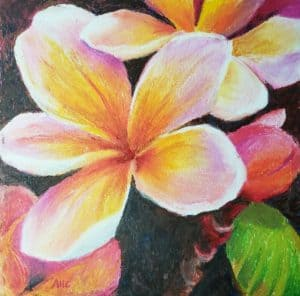 header picture Flower Painting with Oil Pastels verycreate.com