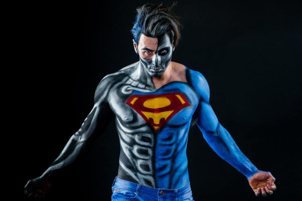 superman cosplay makeup best body paint verycreate.com