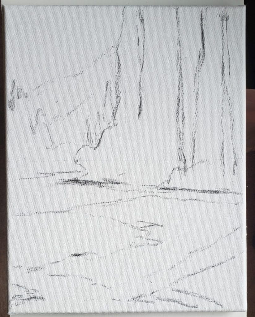 sketch Landscape Painting in Acrylics verycreate.com
