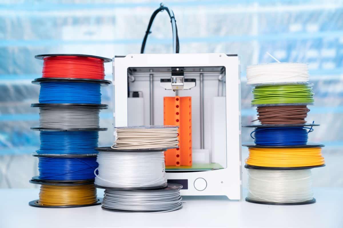Header spools and printer Best Cheap PLA Filament verycreate.com
