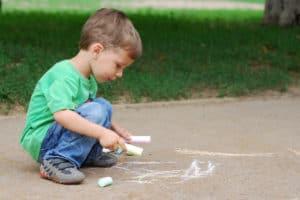 boy chalk sidewalk soft pastel vs chalk pastel verycreate.com