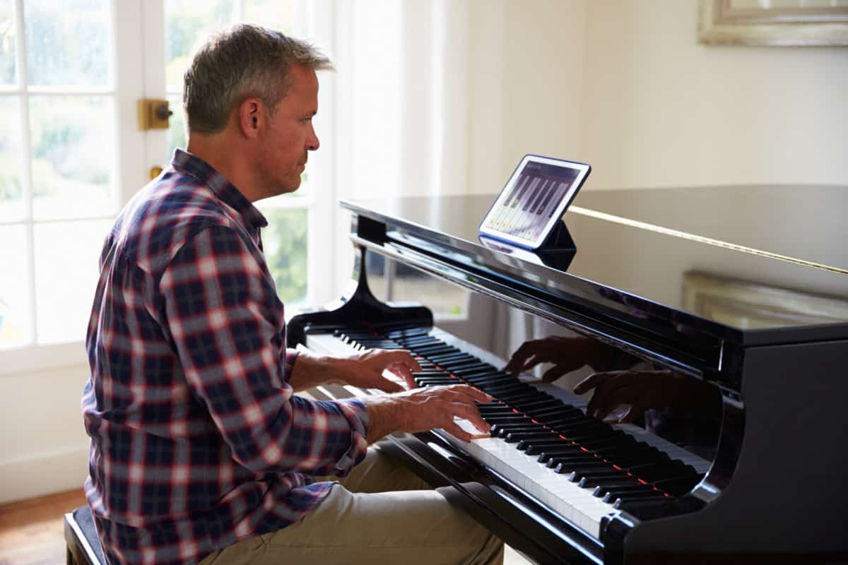 middle aged man at piano Is It Too Late To Learn The Piano verycreate.com