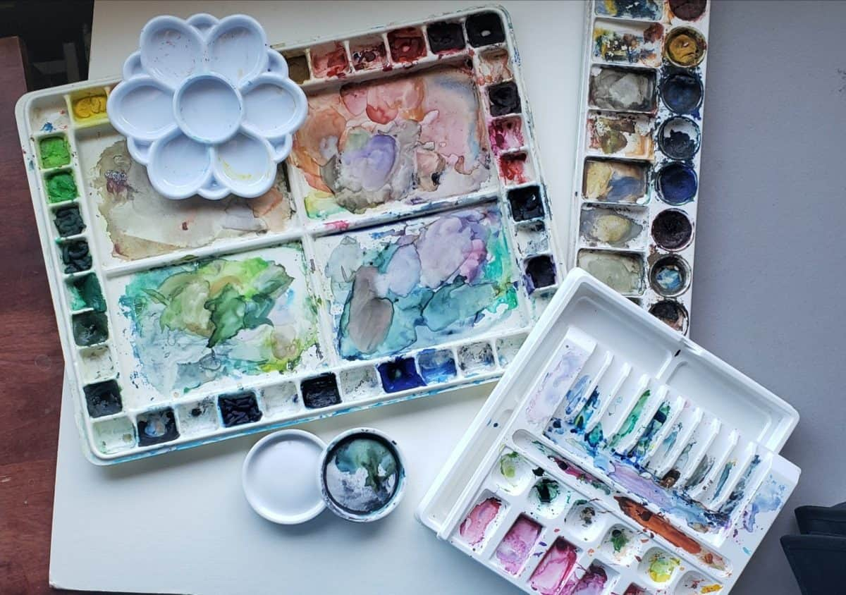 all my palettes wc best watercolor palette verycreate.com