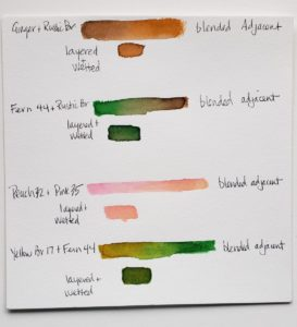 color blending tests Aspire pensswan watercolor tutorial with watercolor pens verycreate.com