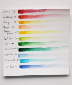 aspire color swatches one swan watercolor tutorial with watercolor pens verycreate.com