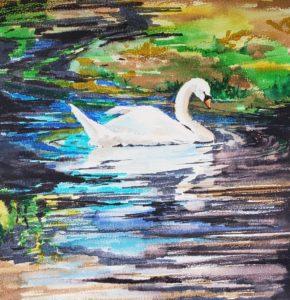 swan final swan watercolor tutorial with watercolor pens verycreate.com