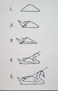 steps to draw swan watercolor tutorial with watercolor pens verycreate.com