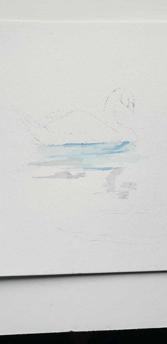 step one swan watercolor tutorial with watercolor pens verycreate.com