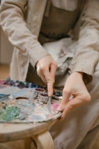 scraping palette oil painting palette verycreate.com