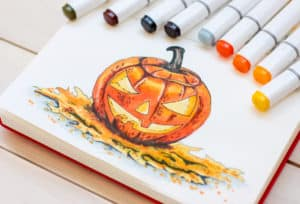halloween marker illustration are copic markers alcohol based verycreate.com