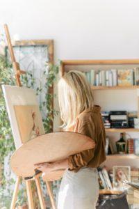 large wood palette oil painting palette verycreate.com