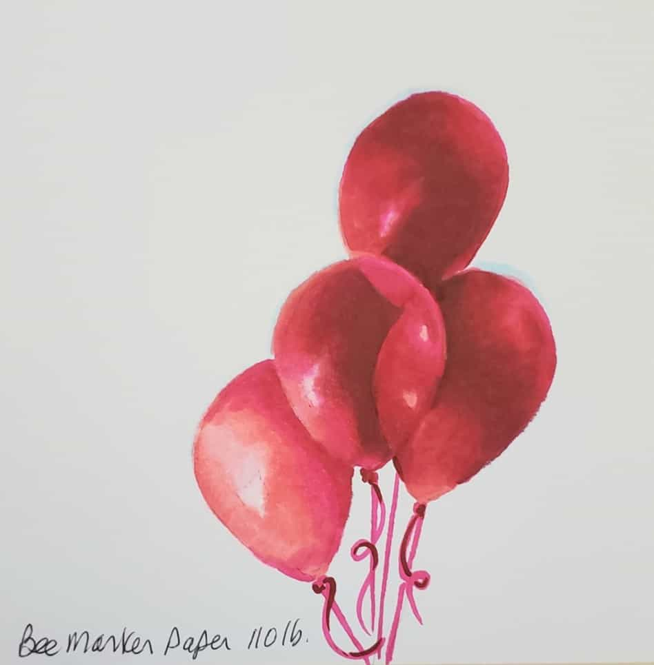 blended balloons final How To Use Alcohol Markers verycreate.com