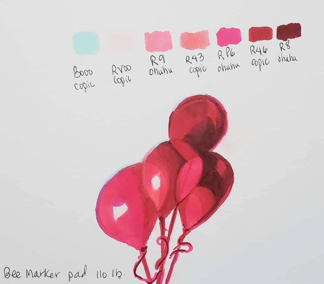 balloons graphic style How To Use Alcohol Markers verycreate.com