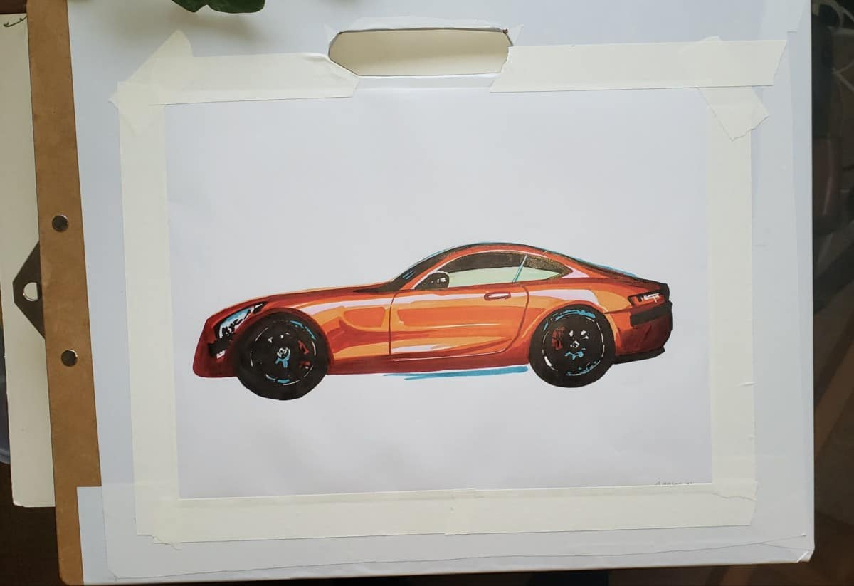my car sketch How To Blend Alcohol Markers verycreate.com