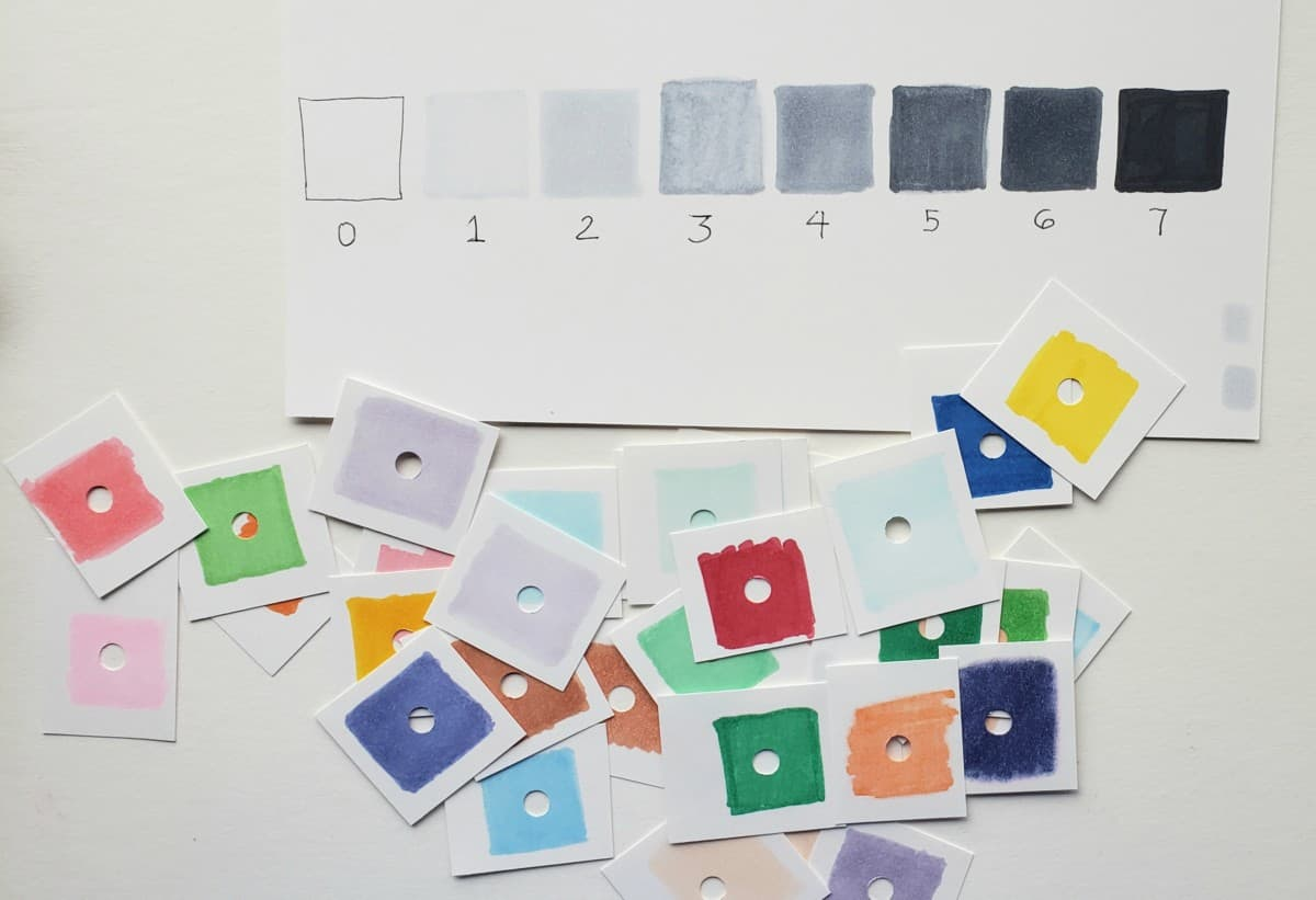 color swatches with holes value chart How To Use Alcohol Markers verycreate.com