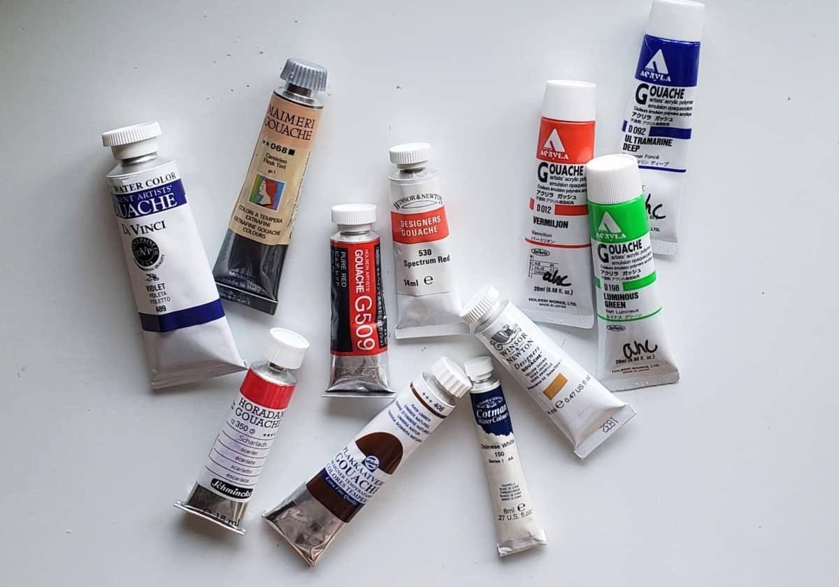 my tubes gouache vs watercolor verycreate.com
