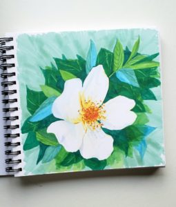 white flower Ohuhu Alcohol Markers Review verycreate.com