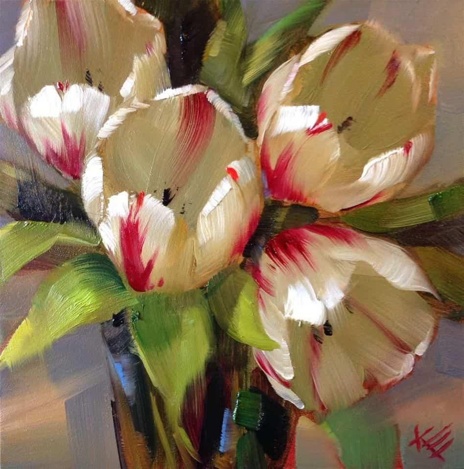 flaming hearts tulips krista eaton verycreate.com