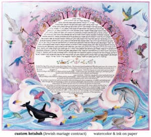blue ketubah jo gershman verycreate.com creator spotlight verycreate.com