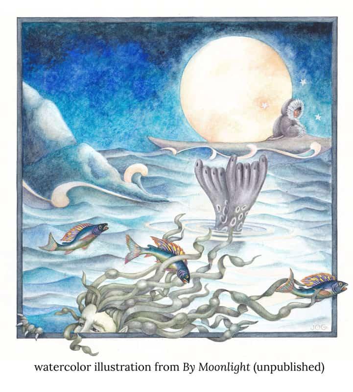 moonlight ocean animals jo gershman verycreate.com creator spotlight verycreate.com