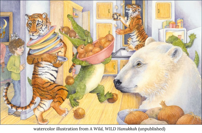 animal hanukkah jo gershman verycreate.com creator spotlight verycreate.com