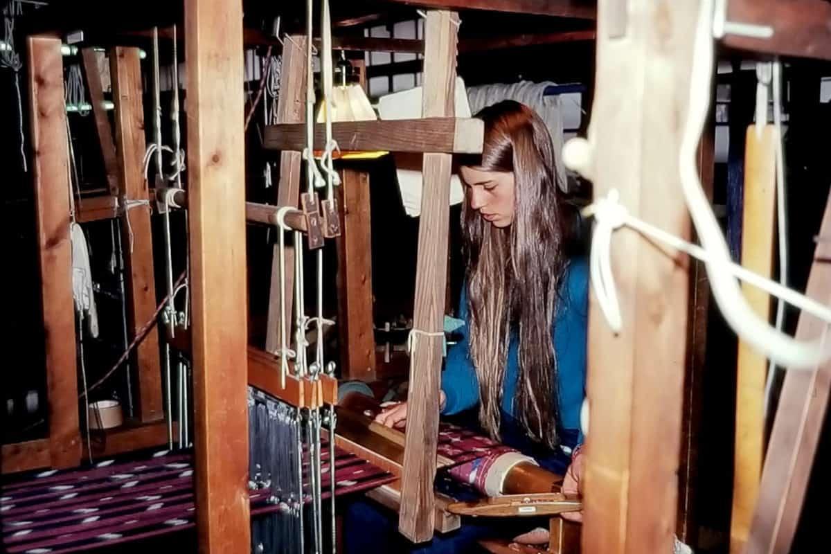 young Kathy weaving Kasuri Japan kathy marty verycreate.com Creator Spotlight verycreate.com