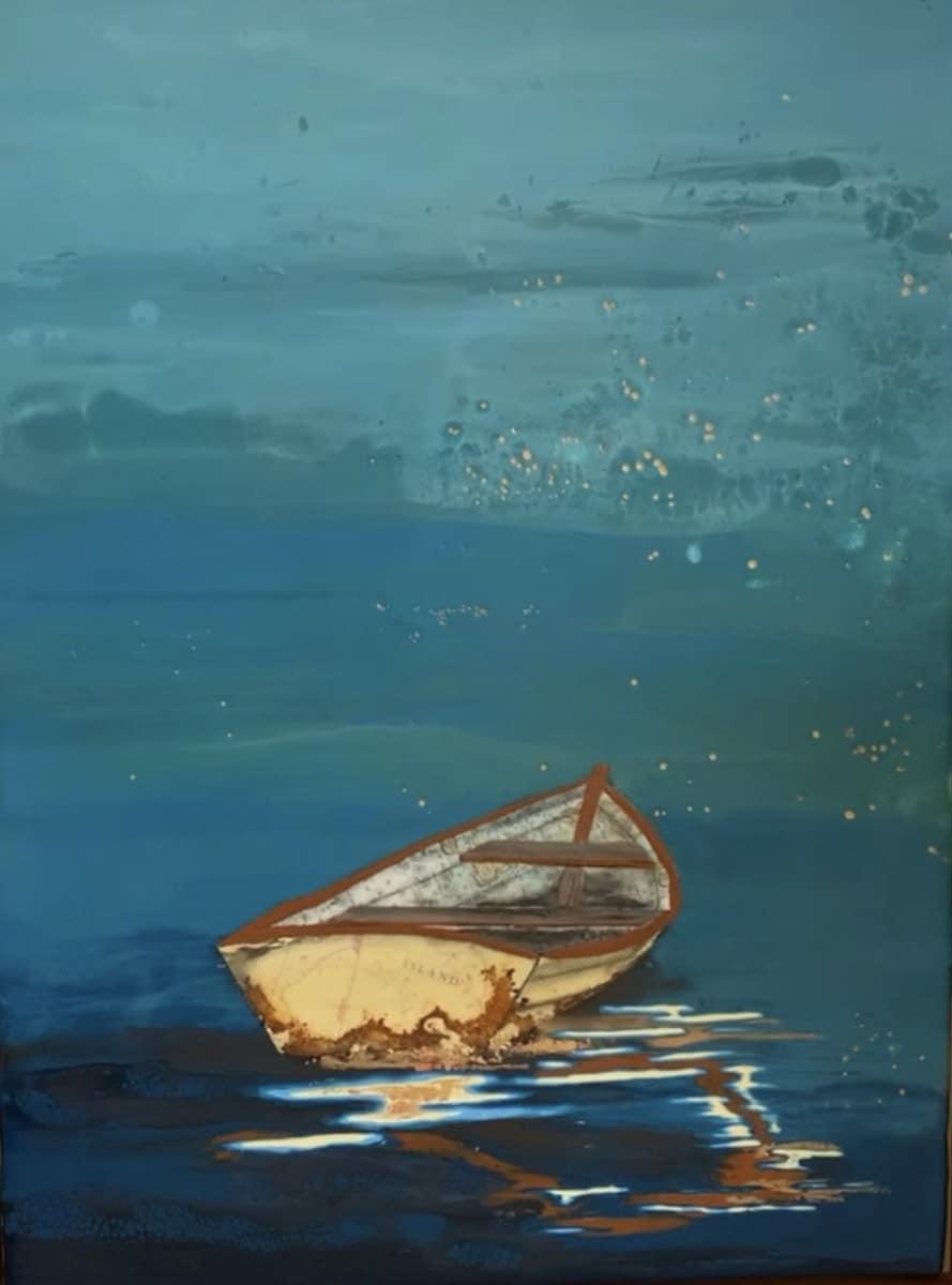 rowboat on blue stacy gresell verycreate.com creator spotlight verycreate.com