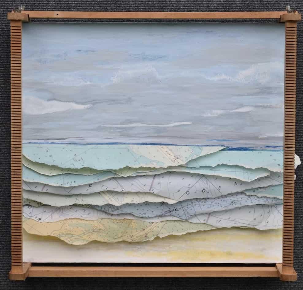 ocean wave paper collage stacy gresell verycreate.com creator spotlight verycreate.com