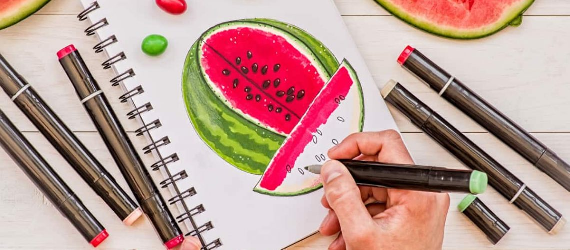 watermelon best paper for alcohol markers verycreate.com